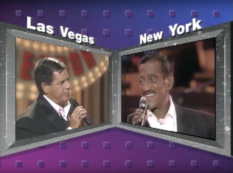Sammy Davis Jr 1989 MDA Telethon with Jerry Lewis