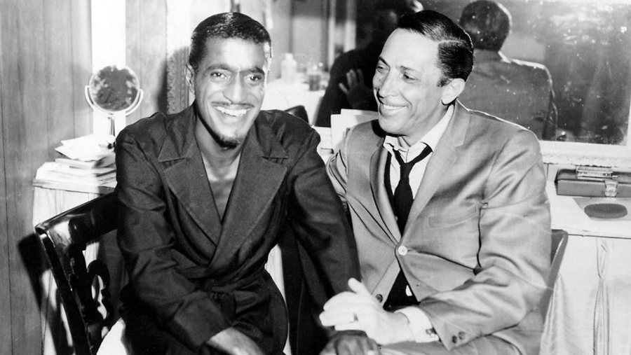 Sammy Davis, Jr. with Bob Kane