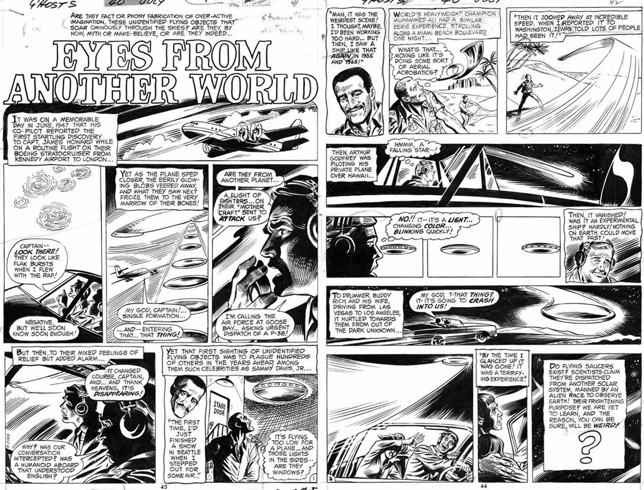DC Ghosts #40 July 1975 Eyes From Another World