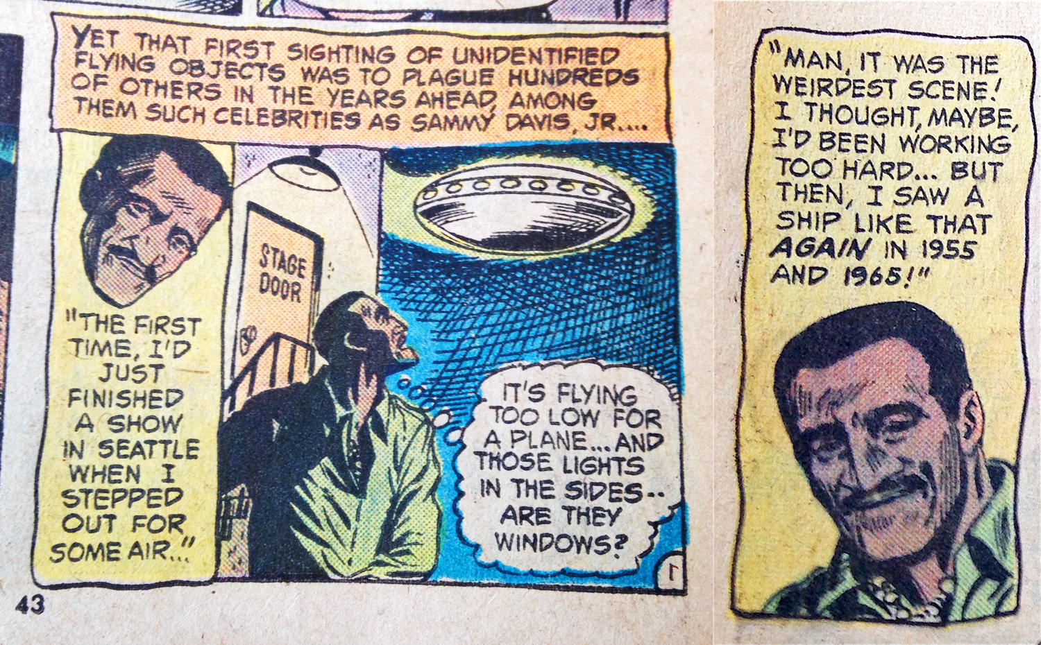 DC Ghosts #40 July 1975 Sammy Davis Panel