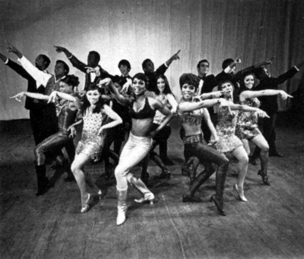 Golden Boy ensemble at the London Palladium 1968