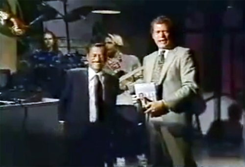 Promoting Why Me on Letterman 1989