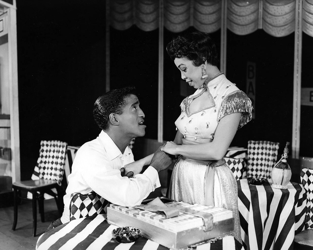 "Sammy Davis, Jr. with Olga James in ""Mr. Wonderful""."