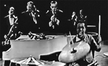 Sammy Davis, Jr. jam session with Steve Allen, Roy Eldridge and Coleman Hawkins