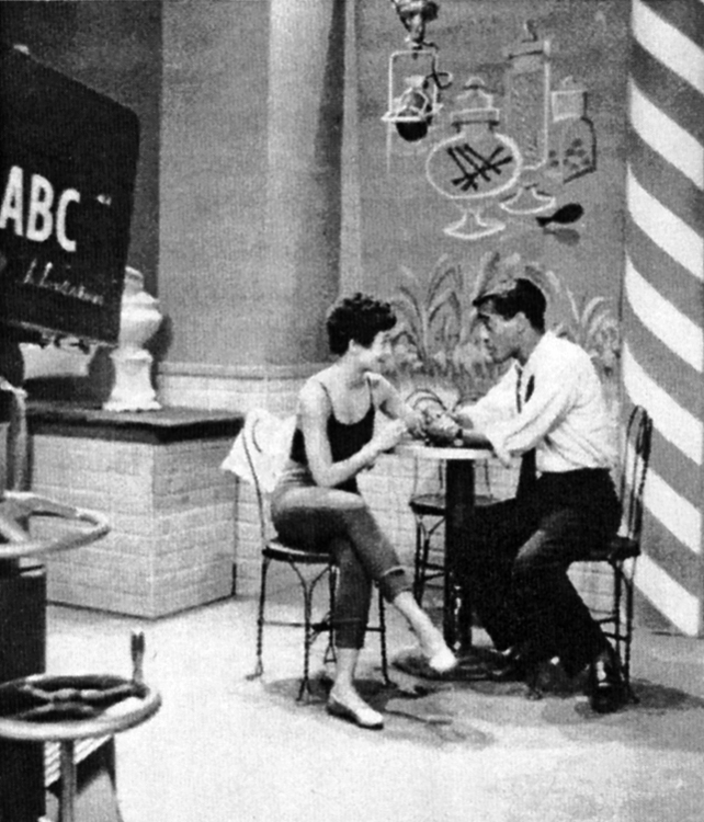 Three's Company - ABC TV pilot 1954. Photo by Arthur Silber, Jr. - SammysBook.com.