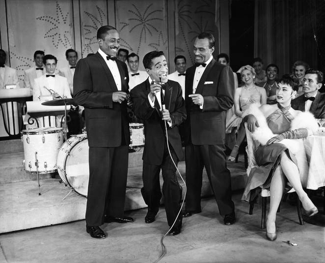 "Sammy Davis, Jr. and The Will Mastin Trio starring in ""Mr Wonderful"". From the Collections of the Museum of the City of New York."