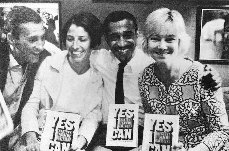 "Burt and Jane Boyar with Sammy Davis, Jr. and May Britt – publication of ""Yes I Can"""